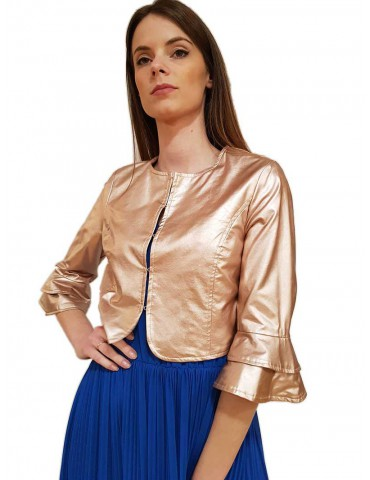Fracomina powdered eco-leather jacket