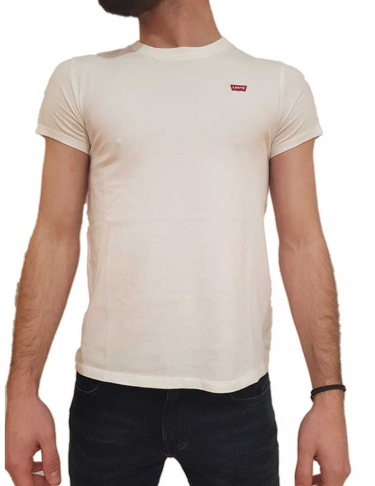 T shirt Levi's® tinta unita bianca box logo 391850006u Levi's® T SHIRT UOMO product_reduction_percent