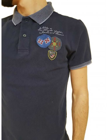 Polo Blauer blu safety co Los Angeles