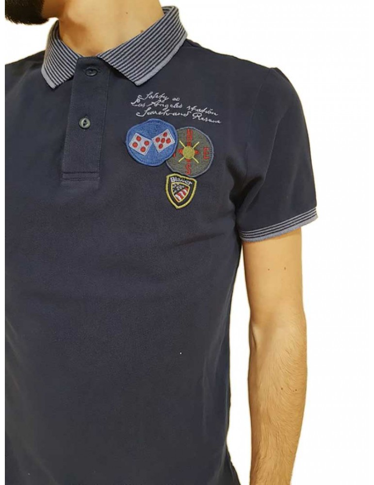 Polo Blauer blu safety co Los Angeles 18sblut02040004865880 BLAUER USA T SHIRT UOMO product_reduction_percent