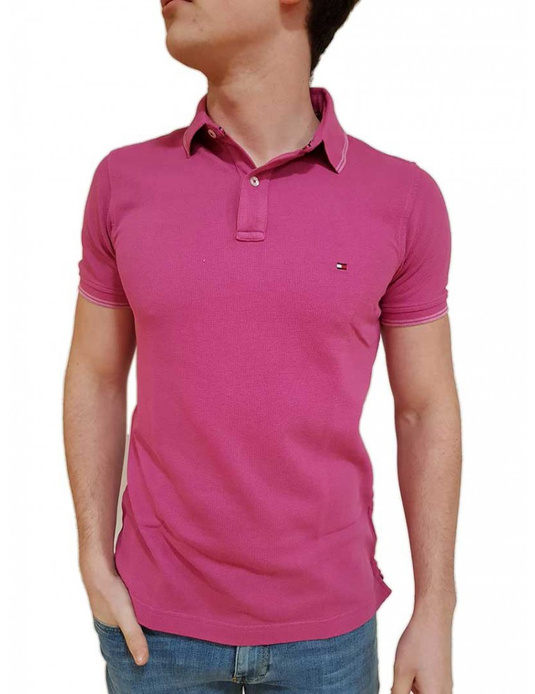 Tommy Hilfiger polo uomo fuxia slim fit mw0mw09744666 TOMMY HILFIGER T SHIRT UOMO product_reduction_percent