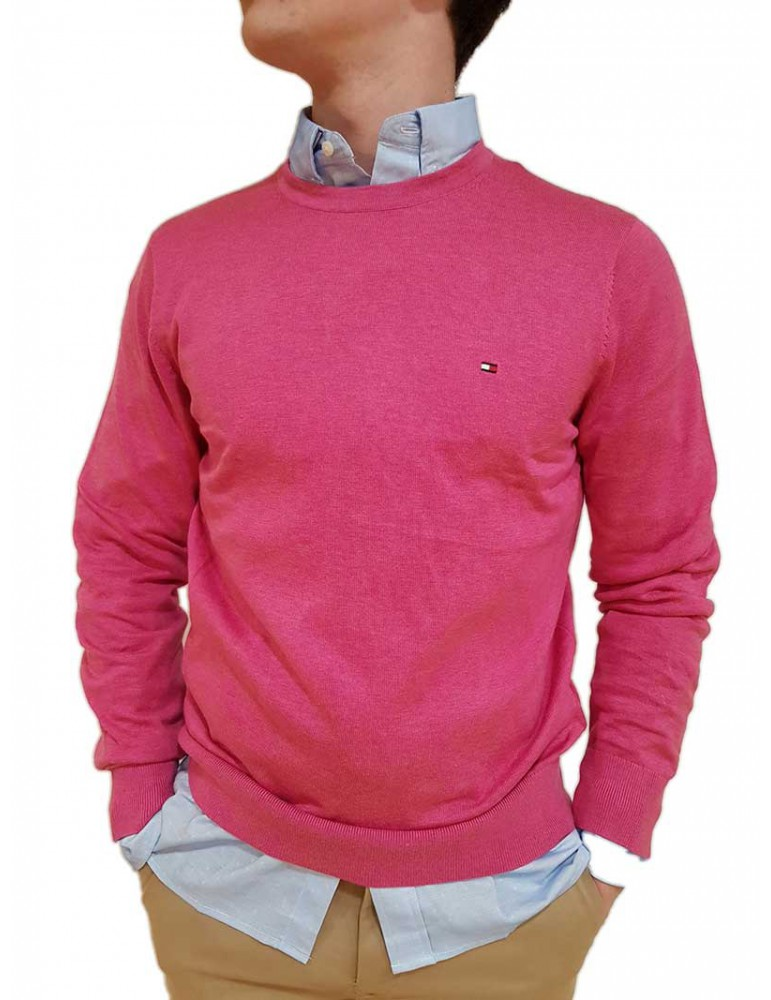Maglia uomo Tommy Hilfiger fuxia mw0mw09779665 TOMMY HILFIGER MAGLIE UOMO product_reduction_percent