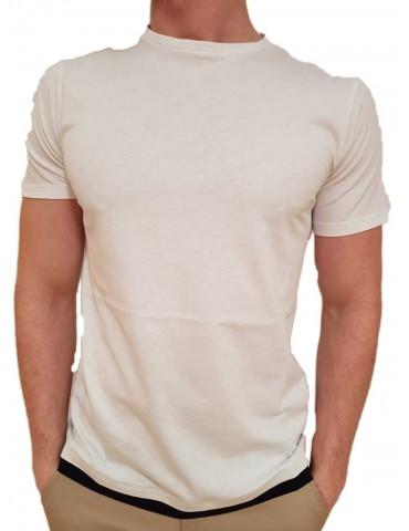 Roberto P Luxury t shirt bianca spg-1 doppiata blue