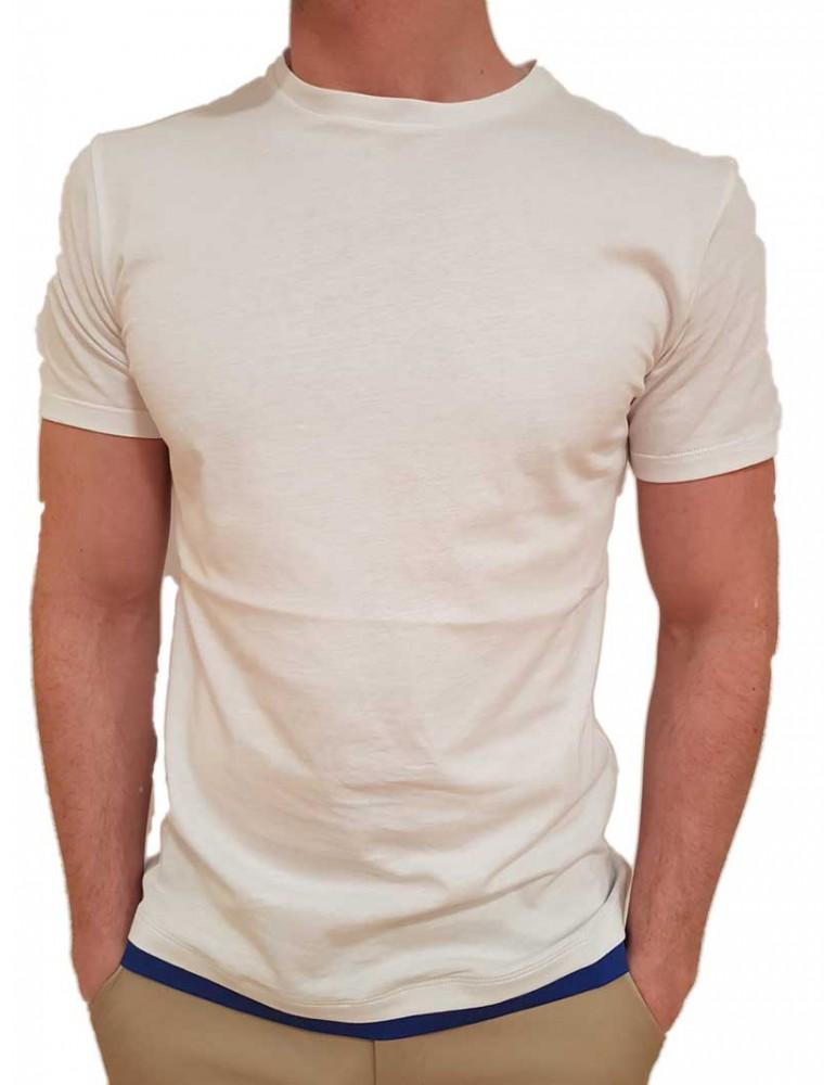 Roberto P t shirt bianca spg-1 doppiata blue royal spg-1b ROBERTO P LUXURY T SHIRT UOMO product_reduction_percent