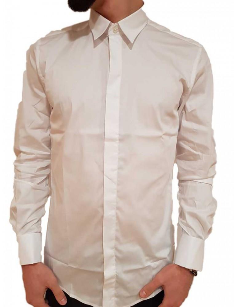 Antony Morato camicia bianca con gemelli super slim mmsl00420fa4500011000 ANTONY MORATO CAMICIE UOMO product_reduction_percent