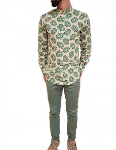 Antony Morato patterned shirt neck Korean paper