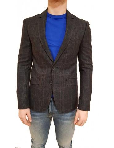 Antony Morato slim brown Prince of Wales jacket