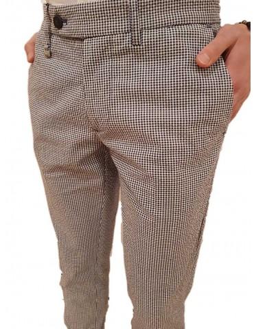 Antony Morato pantalone blu skinny fantasia microquadri