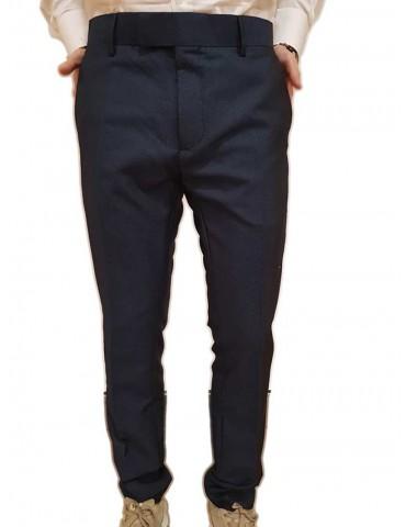 Antony Morato pantalone slim blu fantasia micropois
