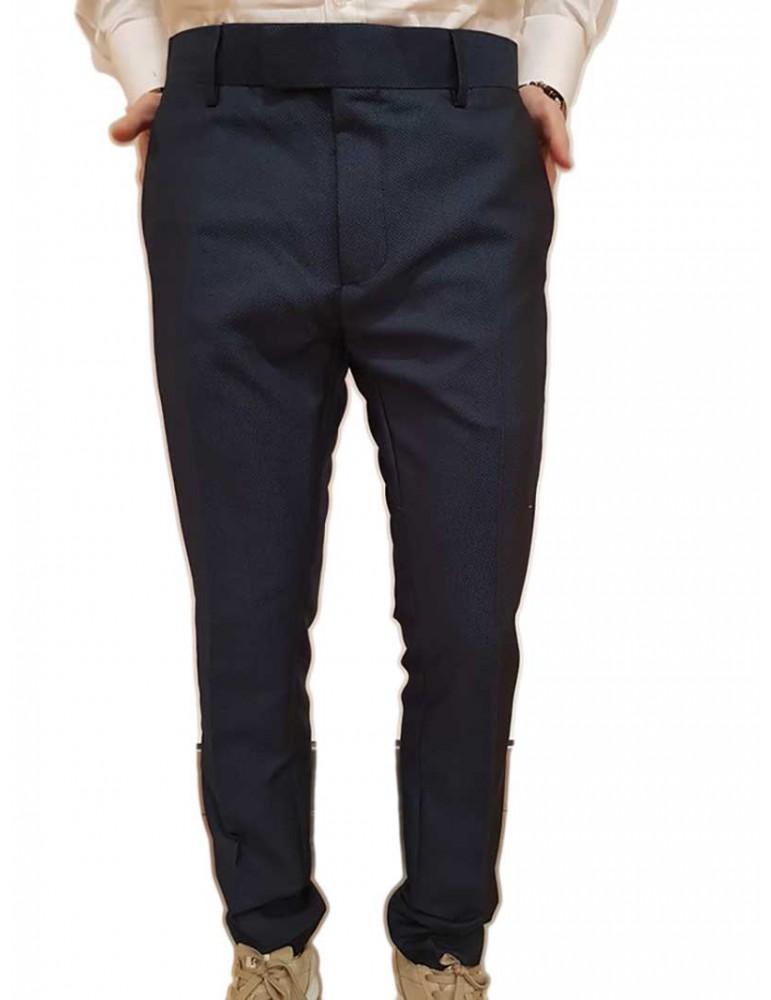 Antony Morato pantalone slim blu fantasia micropois mmtr00408fa6501097058 ANTONY MORATO PANTALONI UOMO product_reduction_percent