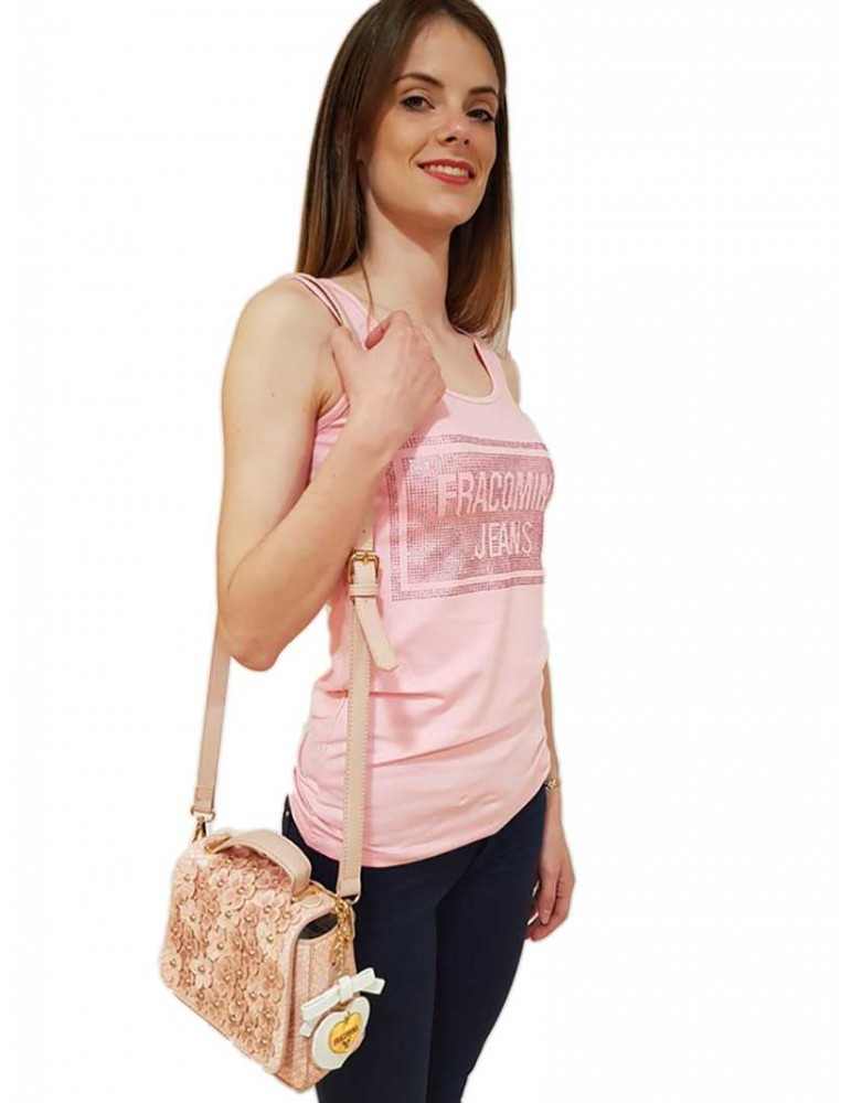 Bag Fracomina small cipria fr18sm207103 FRACOMINA BORSE E CINTURE DONNA product_reduction_percent