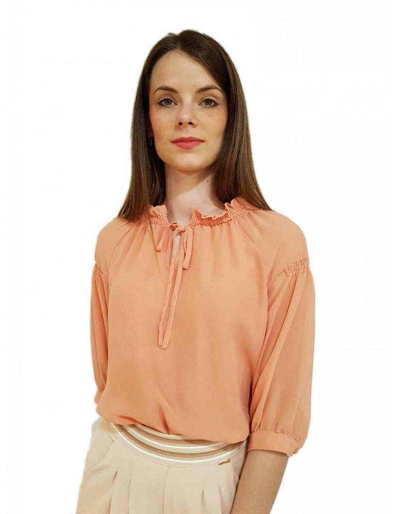 Blusa Fracomina rosa antico Baylee fr19smbaylee310 FRACOMINA CAMICIE DONNA product_reduction_percent