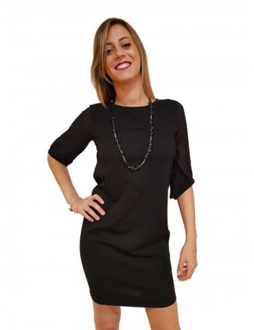 Fracomina abito donna midi nero