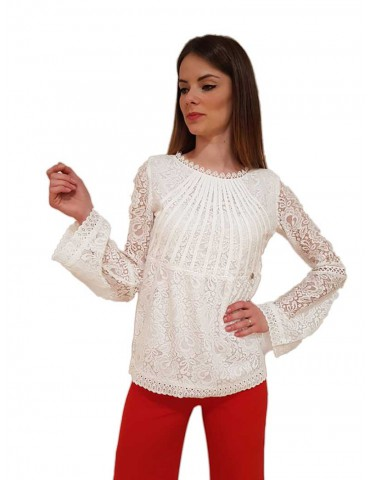Fracomina blouse lace cream