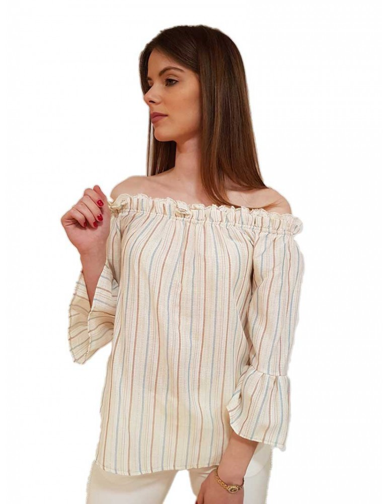 Fracomina blusa a righe fr19sm516b59 FRACOMINA CAMICIE DONNA product_reduction_percent