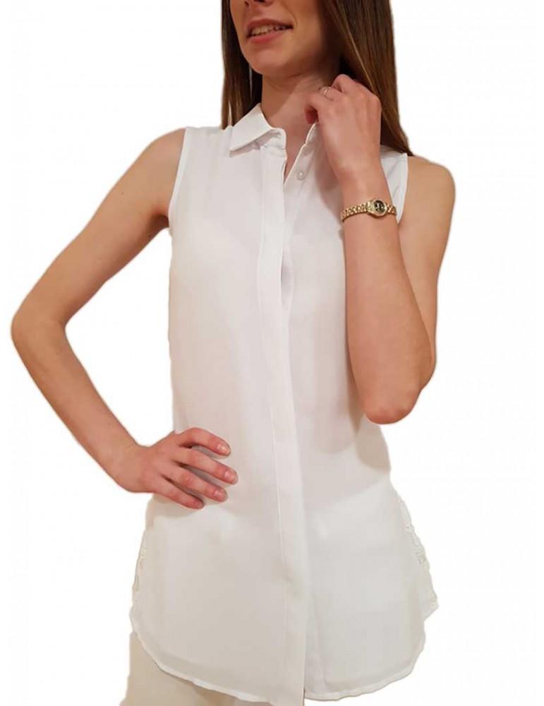 Fracomina blusa bianca Debora fr18smdebora278 FRACOMINA CAMICIE DONNA product_reduction_percent