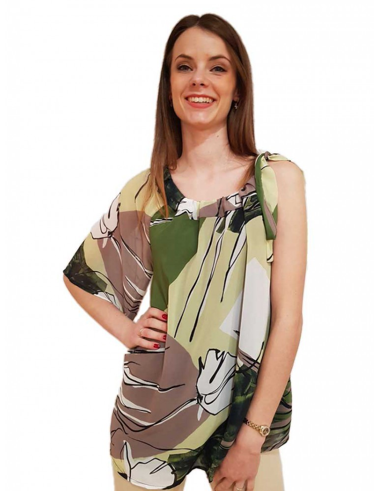 Fracomina blusa con stampa floreale mixfantasy fr19fmbibiana fr19smbibiana453 FRACOMINA CAMICIE DONNA product_reduction_percent