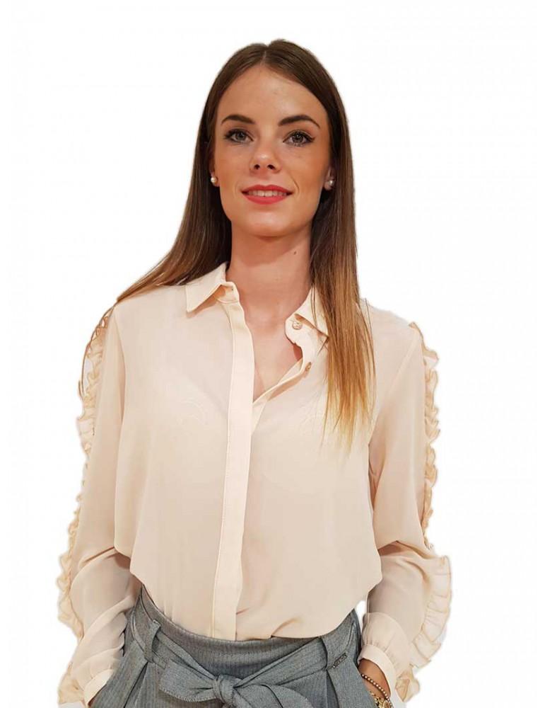 Fracomina camicia rosa cipria fr18fp047050 FRACOMINA CAMICIE DONNA product_reduction_percent
