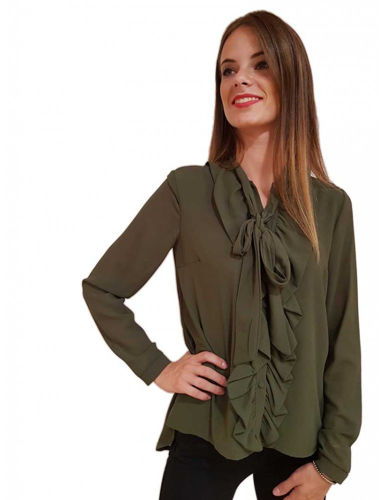 Fracomina camicia verde fr18fp418540 FRACOMINA CAMICIE DONNA product_reduction_percent