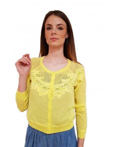 Fracomina yellow short cardigan
