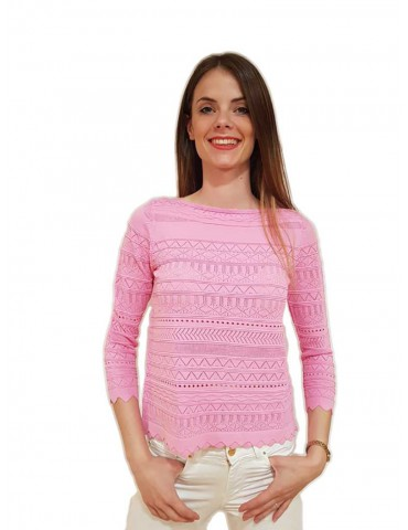 Fracomina cropped pink pull