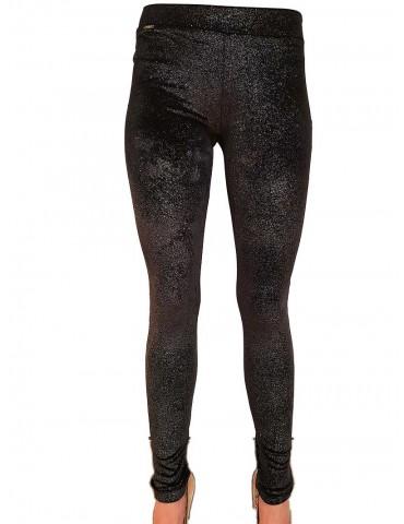 Fracomina leggings nero laminato
