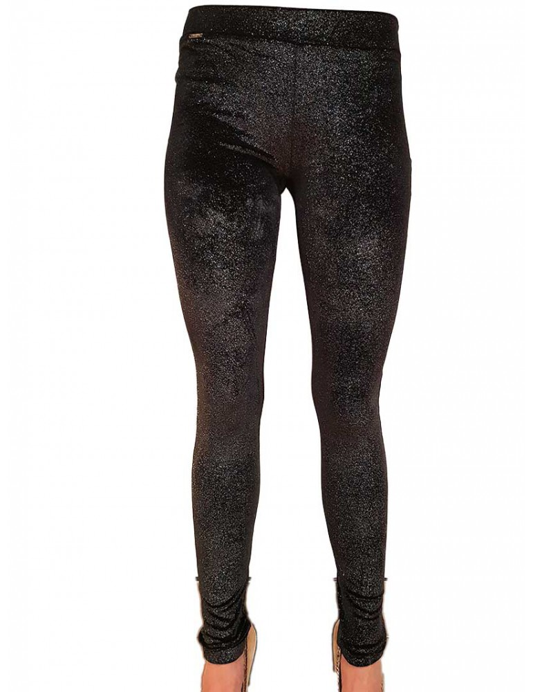 Fracomina leggings nero laminato fr19fp952053 FRACOMINA PANTALONI DONNA product_reduction_percent