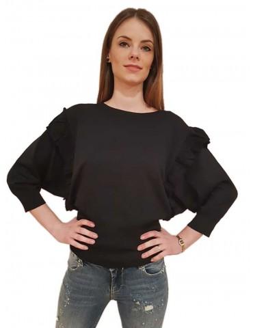 Fracomina black sweater sleeve bat