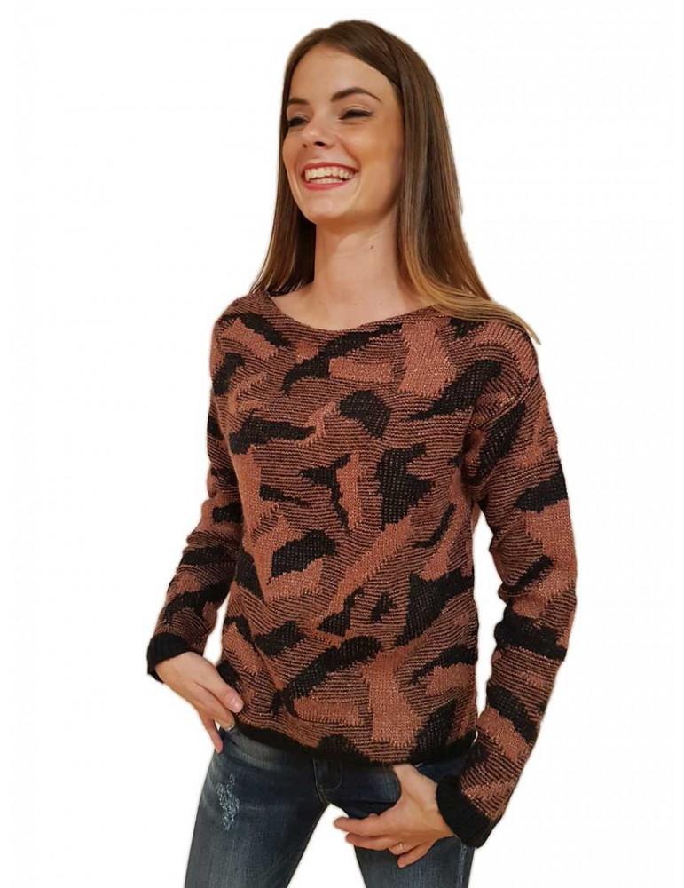 Fracomina maglia Thiphanie rosa nero fr18fmthiphanie341 FRACOMINA MAGLIE DONNA product_reduction_percent