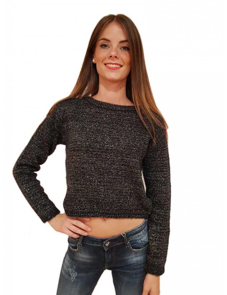 Fracomina maglia nera Denise fr18fmdenise053 FRACOMINA MAGLIE DONNA product_reduction_percent