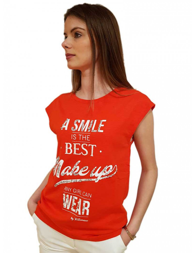 Fracomina maglietta rossa fr19sp331e68 FRACOMINA T SHIRT DONNA product_reduction_percent