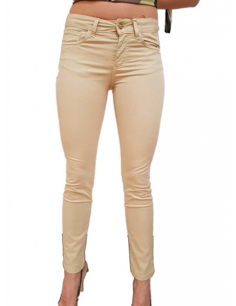 Fracomina Pantalone 5 tasche beige Tina shape up fr19spctina10246 FRACOMINA PANTALONI DONNA product_reduction_percent