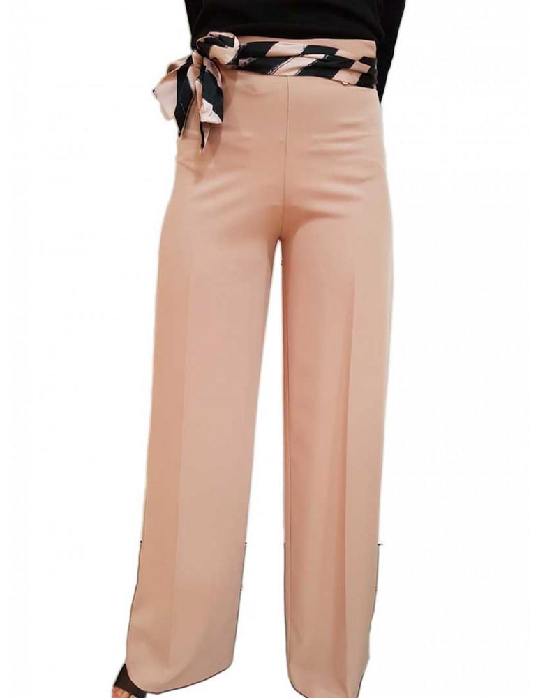 Fracomina pantalone a palazzo cipria con fusciacca fr19sp044103 FRACOMINA PANTALONI DONNA product_reduction_percent
