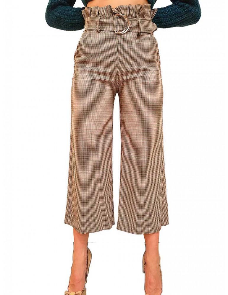 Fracomina pantalone capri pied di poule  fr19fp691210 FRACOMINA PANTALONI DONNA product_reduction_percent