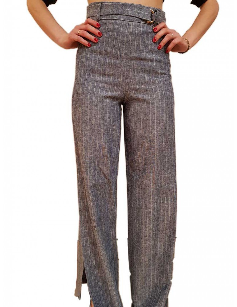 Fracomina pantalone blue a righe fr19sm530064 FRACOMINA PANTALONI DONNA product_reduction_percent