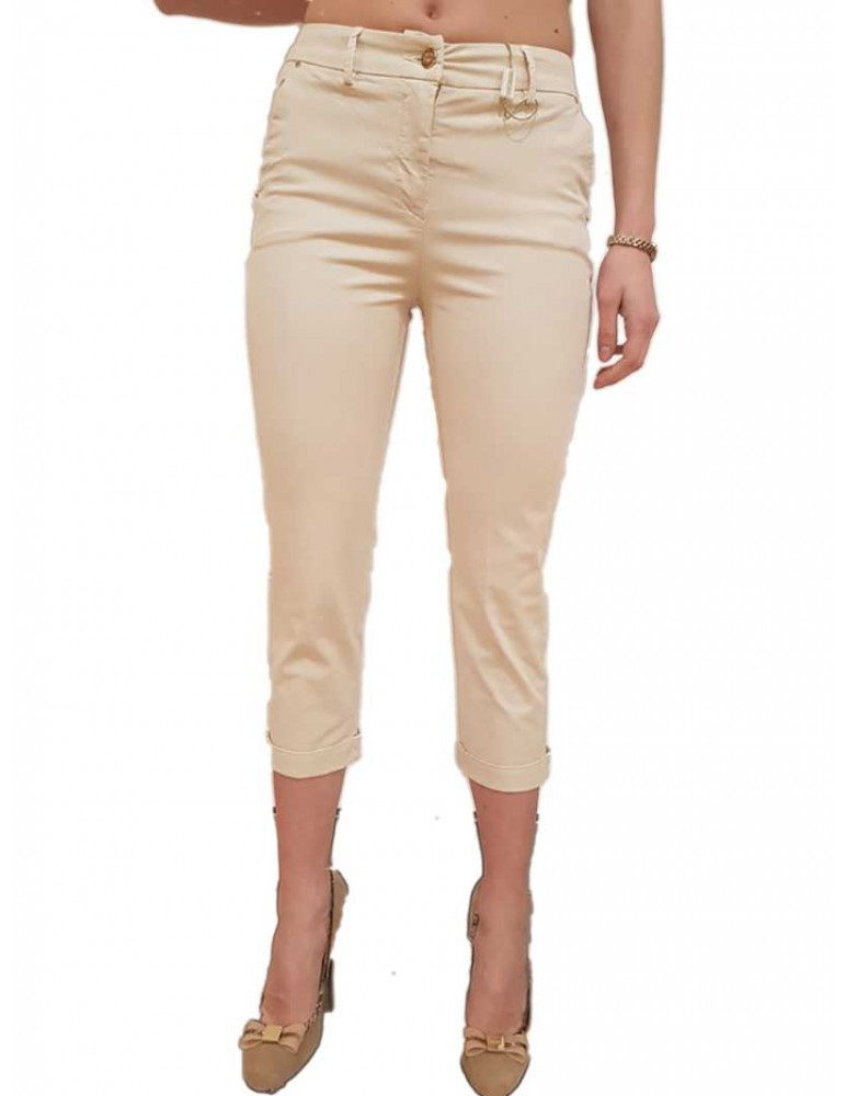 Fracomina pantalone chinos crema fr18spc124887 FRACOMINA PANTALONI DONNA product_reduction_percent