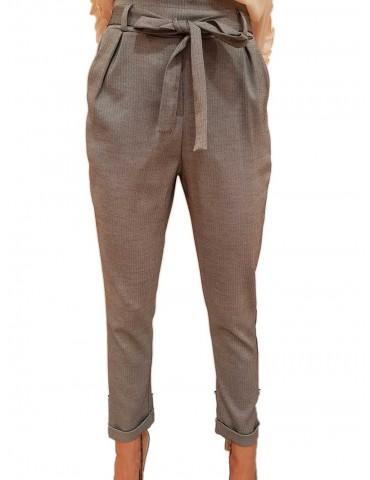Fracomina pantalone donna capri grigio
