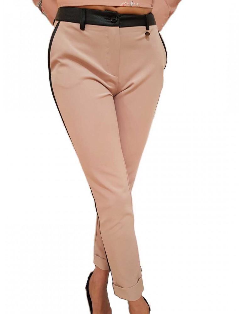 Fracomina pantalone donna chinos cipria nero fr18fm103d53 FRACOMINA PANTALONI DONNA product_reduction_percent