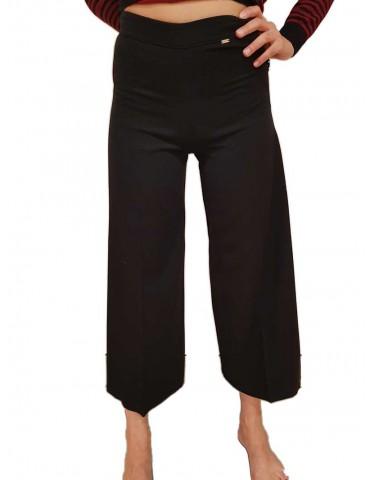 Fracomina pantalone donna palazzo nero