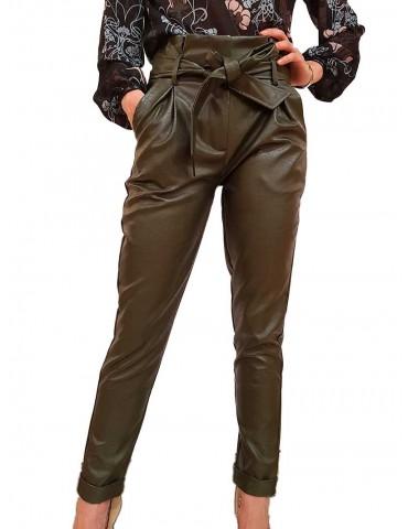Fracomina pantalone ecopelle verde