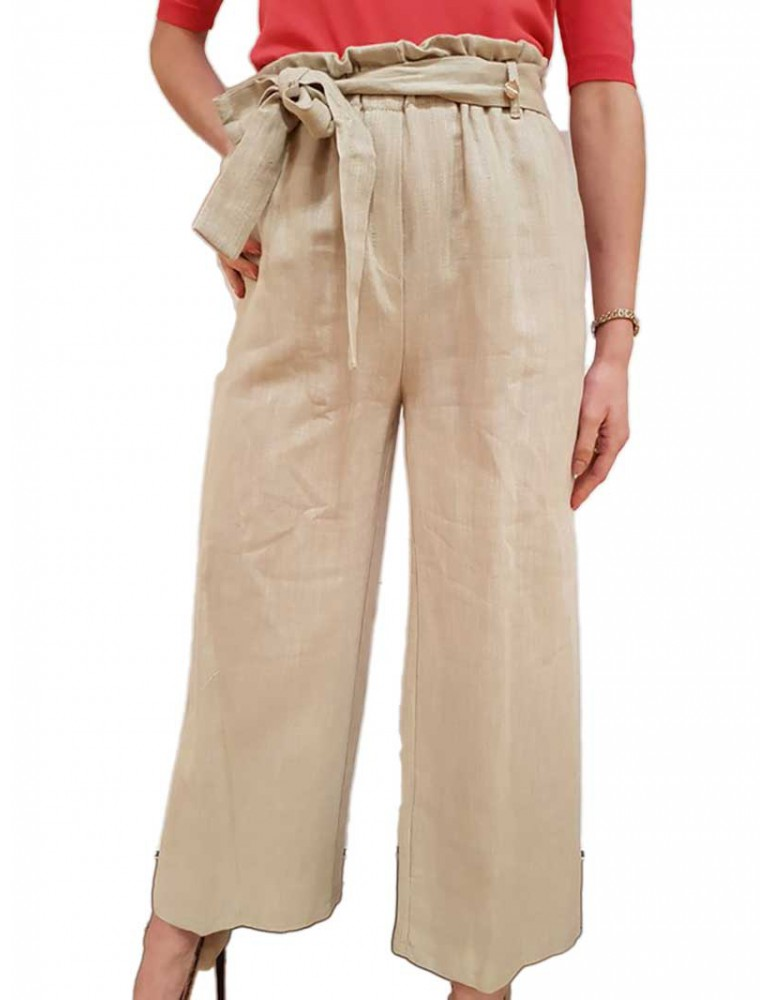 Fracomina pantalone gaucho mud fr18sm642208 FRACOMINA PANTALONI DONNA product_reduction_percent