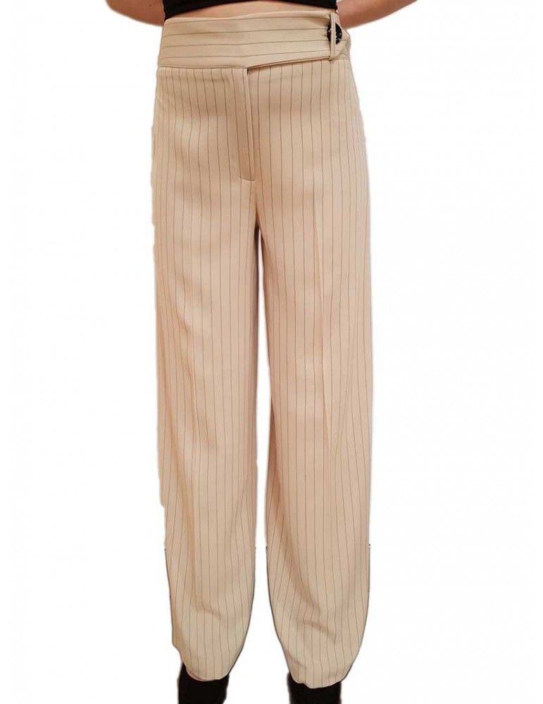 Fracomina pantalone gessato safari fr19sp025a05 FRACOMINA PANTALONI DONNA product_reduction_percent