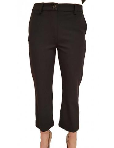 Fracomina pantalone nero gamba larga