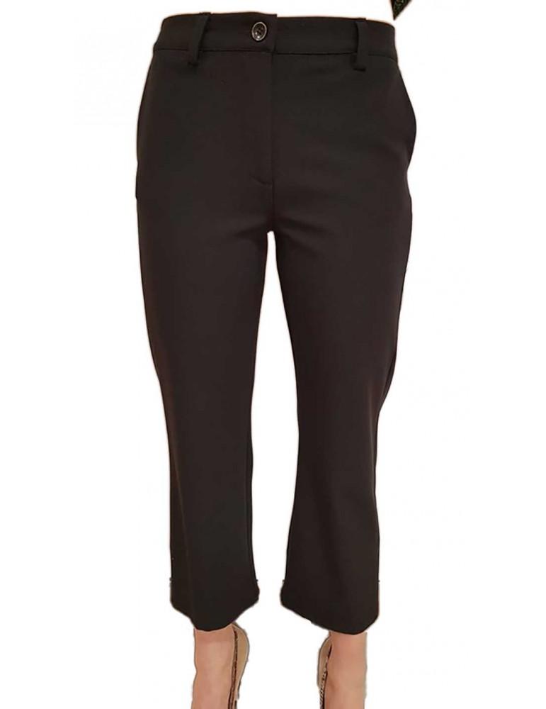 Fracomina pantalone nero gamba larga fr18fmbonnie053 FRACOMINA PANTALONI DONNA product_reduction_percent