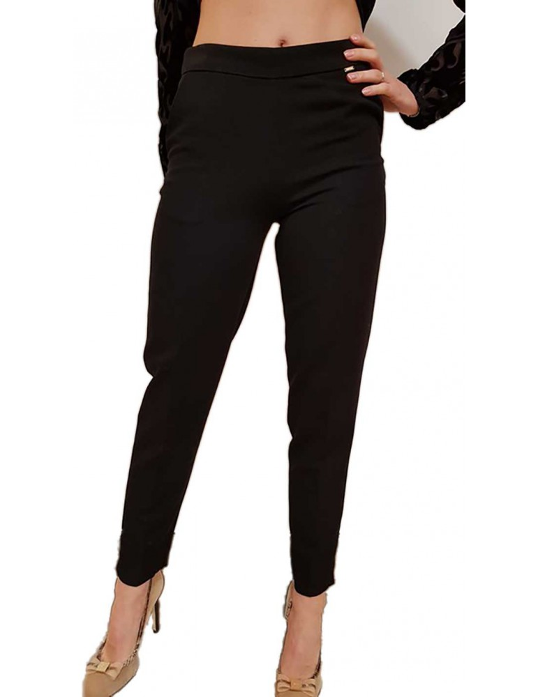 Fracomina pantalone nero slim fr18fm024053 FRACOMINA PANTALONI DONNA product_reduction_percent
