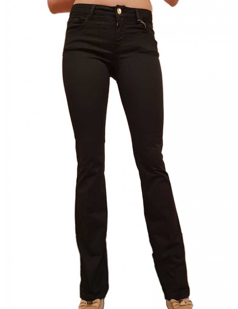 Fracomina pantalone nero svasato Pamela 3 cinque tasche fr20spcpamela3053 FRACOMINA PANTALONI DONNA product_reduction_percent