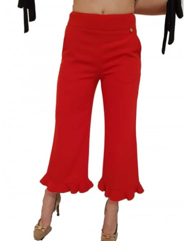 Fracomina short red palace trousers
