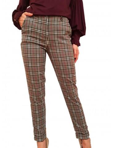 Fracomina pantalone scozzese grigio
