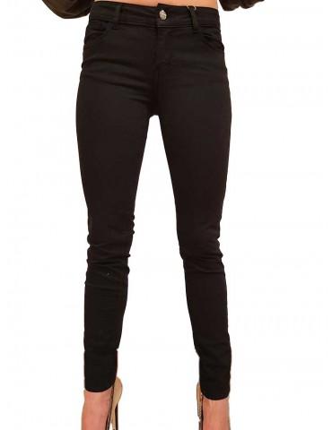 Fracomina pantalone skinny nero Tina