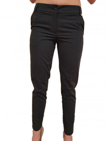 Fracomina slim blue pinstripe trousers